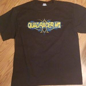 Black beefy quadracer HQ t shirt lg